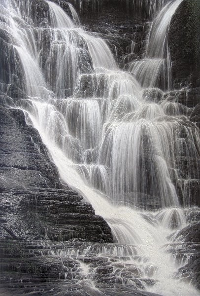 Larry Dyke Falling Water I By Larry Dyke Giclee On Canvas  Signed & Numbered