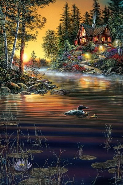 Jim Hansel Garden Hideaway By Jim Hansel Giclee On Canvas  Artist Proof