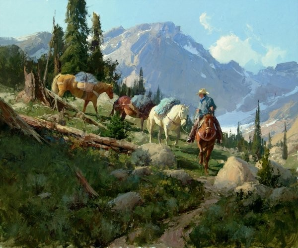 Bill Anton Golden Lakes Trail By Bill Anton Giclee On Canvas  Signed & Numbered