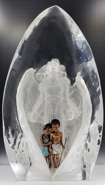 Thomas Blackshear Legends The Guardian Legends Gallery Proof No 46 Mixed Media Sculpture