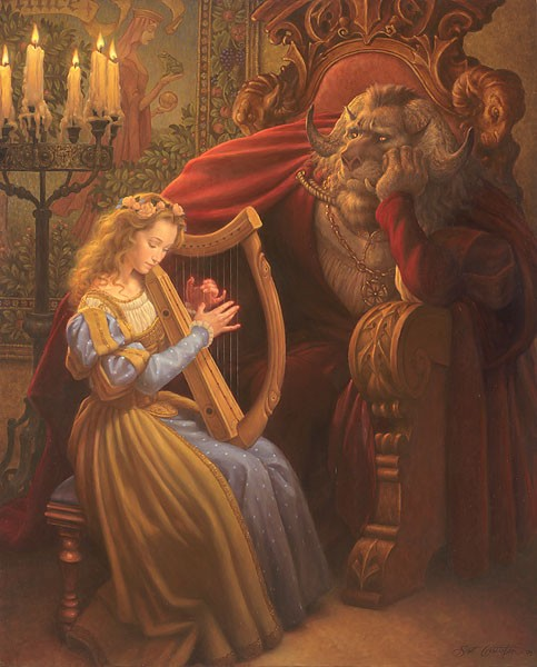 Scott Gustafson Beauty And The Beast Limited Edition Canvas