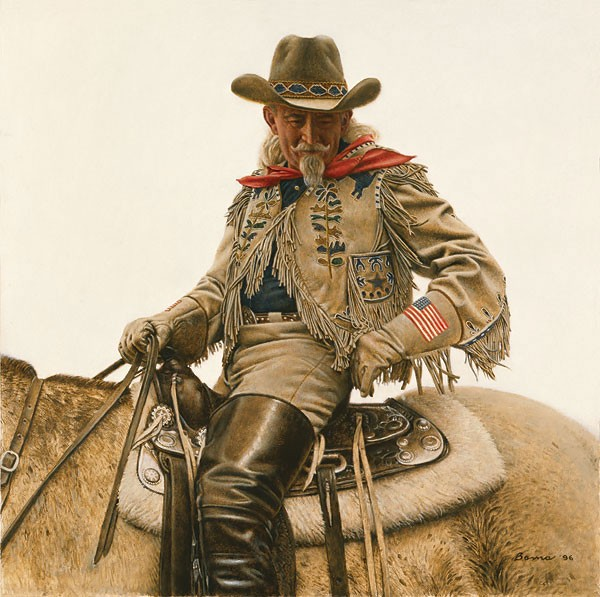 James Bama Buffalo Bill 4th Of July Limited Edition Canvas