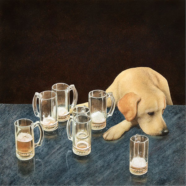 Will Bullas What's That In Dog Beers Limited Edition Canvas