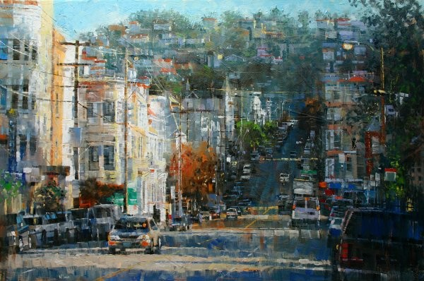 Mark Lague Haightashbury Hills By Mark Lague Giclee On Canvas  Signed & Numbered