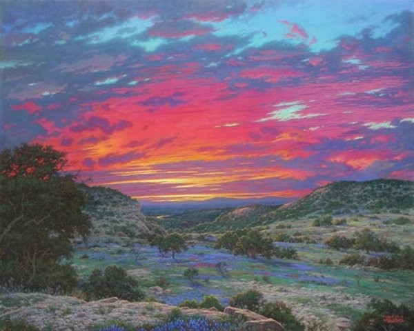 Larry Dyke Heavens Glory By Larry Dyke Canvas  Artist Proof