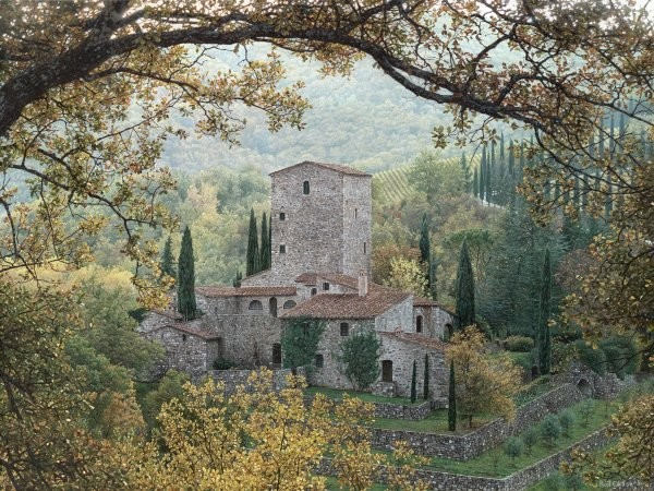 Rod ChaseHills Of Chianti By Rod Chase Giclee On Paper  Signed & Numbered