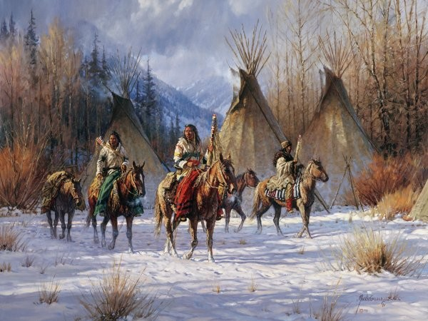 Martin Grelle Hunters Morning By Martin Grelle Giclee On Canvas  Grande Edition