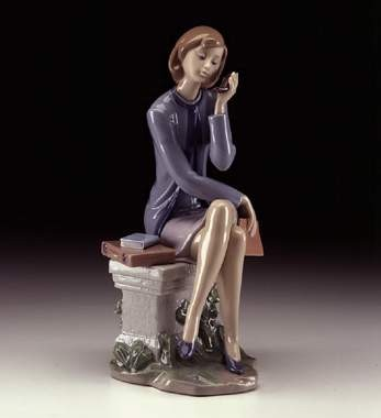 Lladro Always On The Go Porcelain Figurine