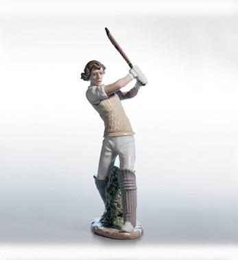 LladroCricket PlayerPorcelain Figurine