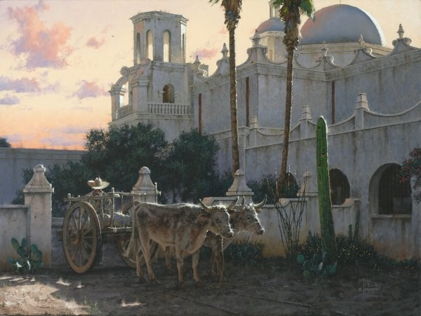 George Hallmark La Paloma Blanca By George Hallmark Giclee On Canvas  Grande Edition
