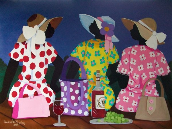 Cassandra Gillens Ladies Night By Cassandra Gillens Giclee On Canvas  Signed & Numbered