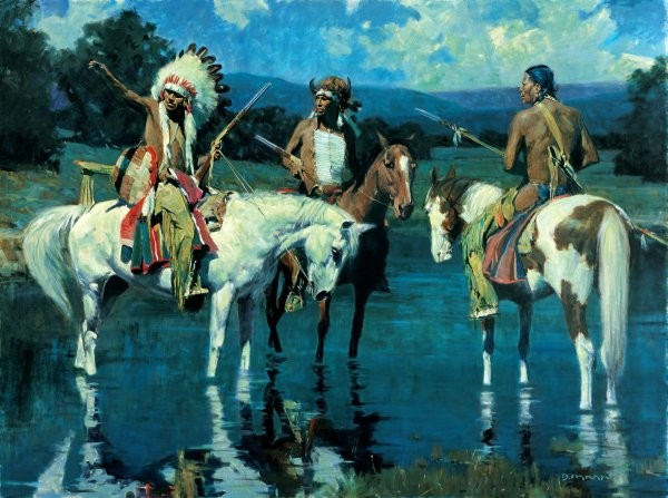 David Mann Lakota Moon By David Mann Giclee On Canvas  Artist Proof