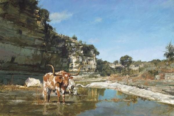 Ragan GennusaLittle Paint Creek By Ragan Gennusa Giclee On Canvas  Signed & Numbered