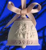 LladroChristmas Bell 1987Porcelain Figurine
