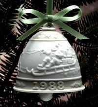 LladroChristmas Bell 1988
