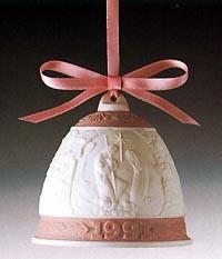 LladroChristmas Bell 1996