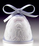 Lladro Christmas Bell 2000 Ornament Porcelain Figurine