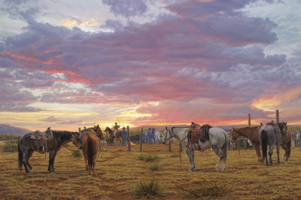 Tim  Cox Long Days Short Pay By Tim Cox Giclee On Canvas  Artist Proof