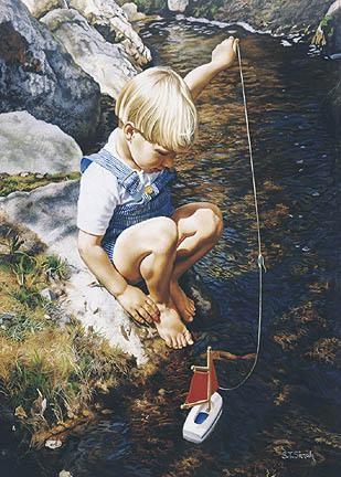 Tom SierakMaiden Voyage Canvas Giclee