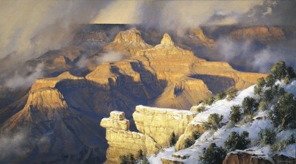 Robert PetersMarch Yavapai Point By Robert Peters Giclee On Canvas  Signed & Numbered