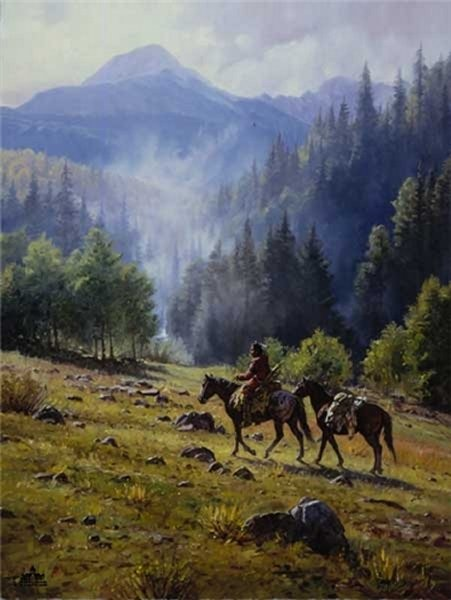 Martin Grelle Mists Of Morning By Martin Grelle Canvas  Signed & Numbered