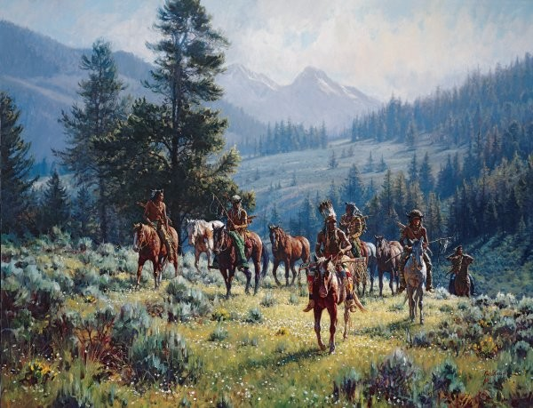 Martin GrelleMonarchs Of The North By Martin Grelle Giclee On Canvas  Signed & Numbered