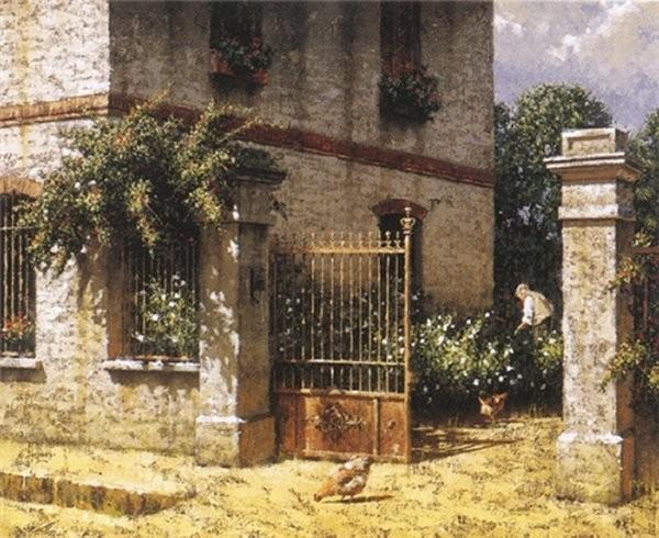George HallmarkMorning By George Hallmark Giclee On Canvas  Artist Proof