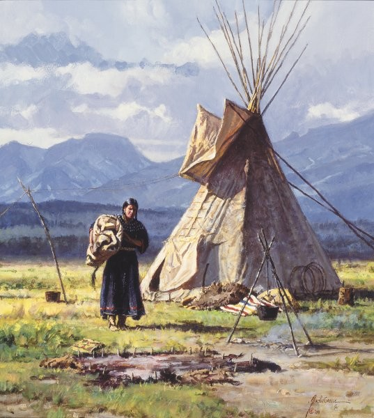 Martin Grelle Morning Chores By Martin Grelle Giclee On Canvas  Signed & Numbered