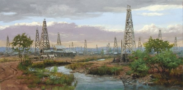Andy Thomas Oil Patch By Andy Thomas Giclee On Canvas Open Edition Signed