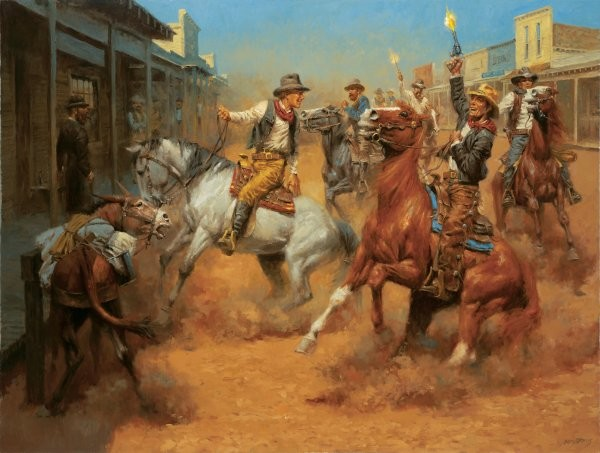 Andy Thomas Our Grand Entrance By Andy Thomas Giclee On Canvas  Artist Proof