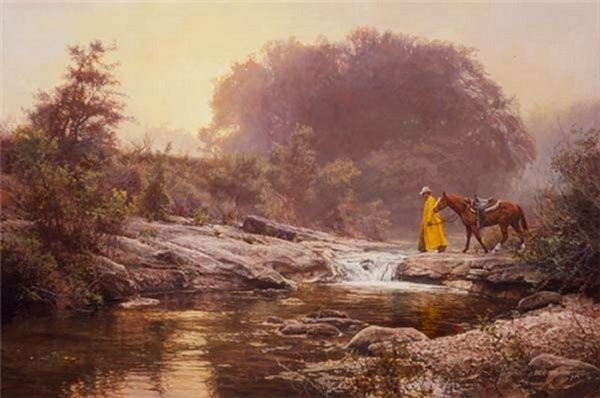 Bob Wygant Pale Morning Mist By Bob Wygant Giclee On Canvas  Artist Proof