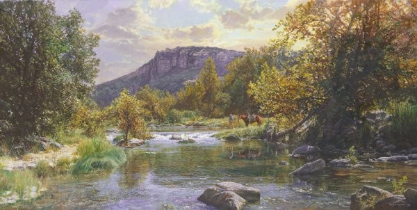 Bob Wygant Peaceful Haven By Bob Wygant Giclee On Canvas  Signed & Numbered
