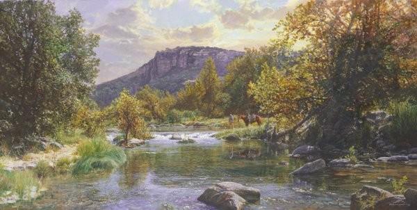 Bob WygantPeaceful Haven By Bob Wygant Giclee On Canvas  Artist Proof