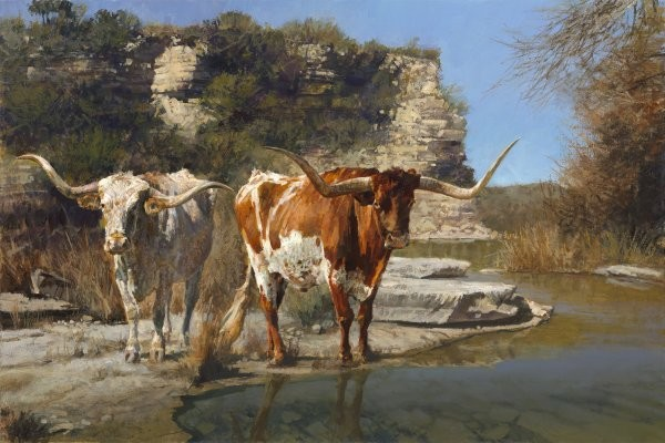 Ragan Gennusa Pinto Pardners By Ragan Gennusa Giclee On Canvas  Signed & Numbered
