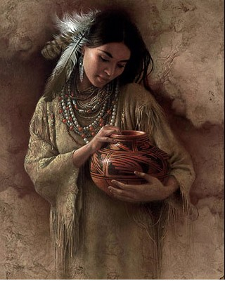 Lee Bogle The Red Pot Giclee On Canvas