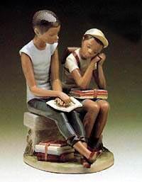 Lladro Black LegacySchool ChumsPorcelain Figurine