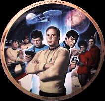 Thomas Blackshear Star Trek Collector Plate 25th Anniversary
