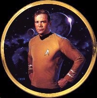 Thomas Blackshear Star Trek Captain Kirk 25th Anniversary Plate