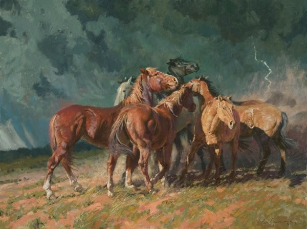 Bruce Greene Storm On The Plains By Bruce Greene Giclee On Canvas  Artist Proof