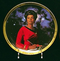 Thomas Blackshear Star Trek Lt. Uhura 25th Anniversary Plate