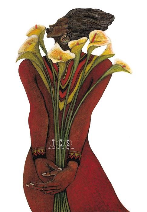 Charles BibbsSweet Lilies Artist Proof Remarque