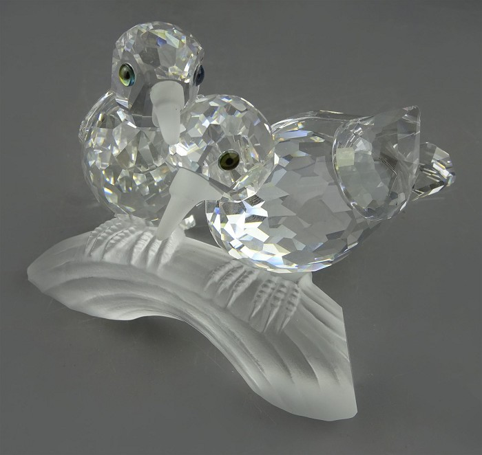 Swarovski Crystal Swarovski Turtle Doves 1989 Caring And Sharing