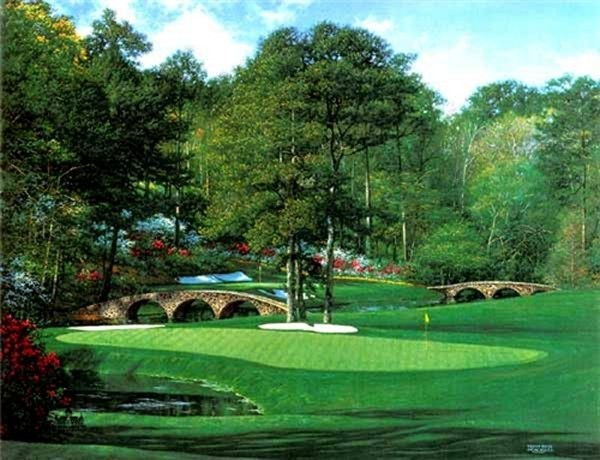 Larry DykeThe 11th At Augusta By Larry Dyke Serigraph  Signed & Numbered