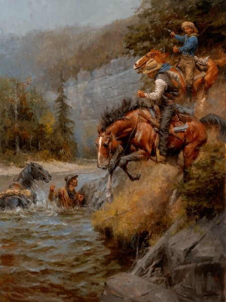 Andy Thomas The Hunted By Andy Thomas Giclee On Canvas  Signed & Numbered