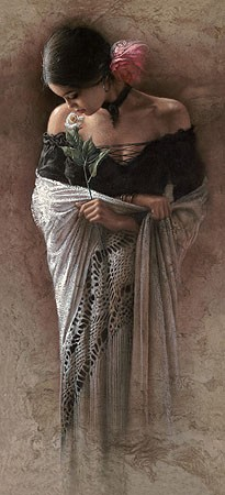 Lee Bogle The Rose Giclee On Canvas
