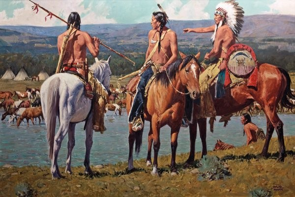 David Mann Tribal Wealth By David Mann Giclee On Canvas  Signed & Numbered