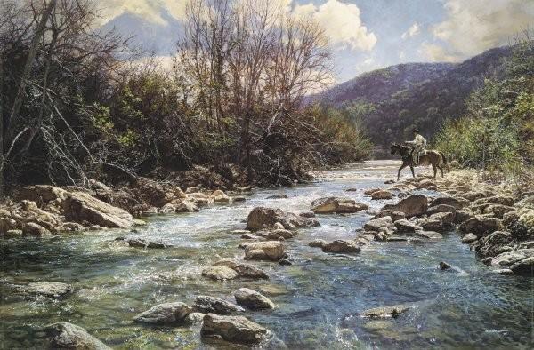 Bob WygantUpper Frio By Bob Wygant Giclee On Canvas  Artist Proof