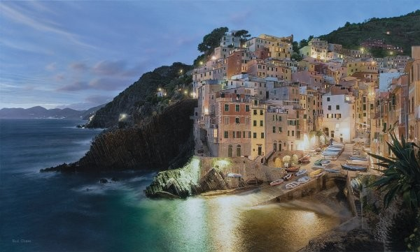 Rod ChaseVia Della Amore By Rod Chase Giclee On Canvas  Grande Edition