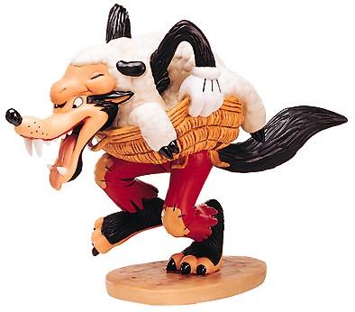 WDCC Disney ClassicsThree Little Pigs Big Bad Wolf I'm A Poor Little Sheep