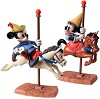 Brave Little Taylor Mickey And Minnie Mouse Carousel Sweethearts Signed By Bruce Lau